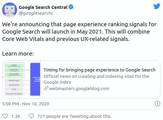 Segnali web essenziali fattori di ranking